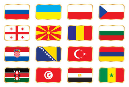 National flags - Mix set Stock Photo - 6829210