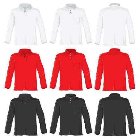 Polo with long sleeves set without gradients.  photo