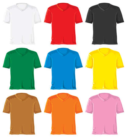 Triangle collar T-shirt set without gradients.  photo