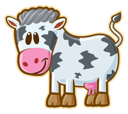 hair black color: Cow.  Illustration