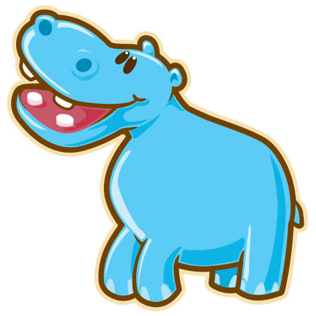 hipopotamo dibujos animados: Hipopótamo.