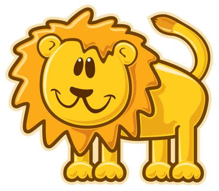 leon de dibujos animados: León. Vectores