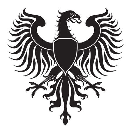 heraldic eagle: Original eagle crest. Easy to handle, change colors etc. Stock Photo