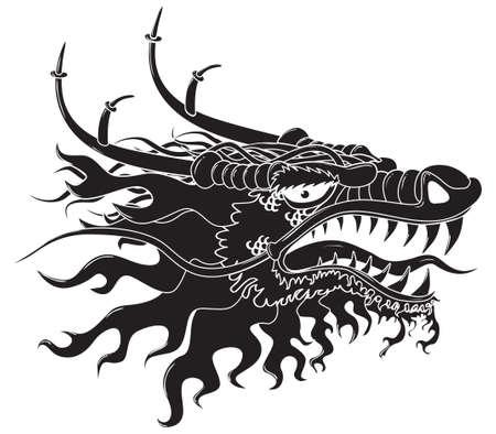 Dangerous Dragon head.  Stock Photo - 6998229