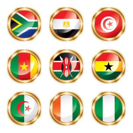 ghana: Flag buttons Africa.