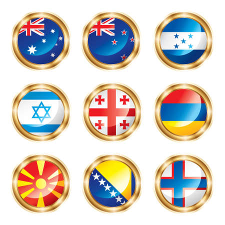 Flag buttons mix set.  photo