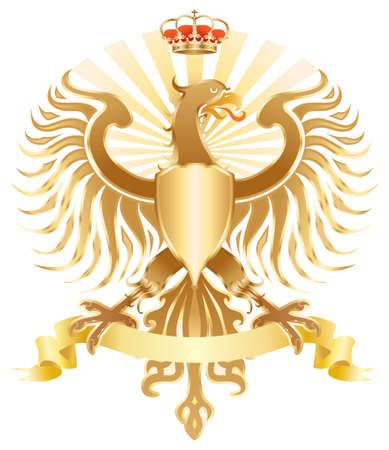 Original golden eagle crest.  color version. photo