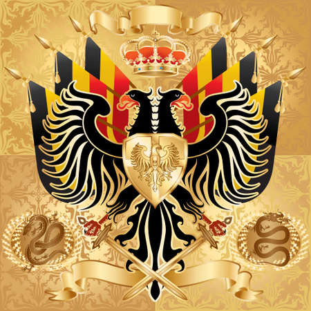 Royal Coat of Arms. illustration.