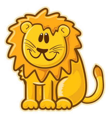 leon de dibujos animados: León.  sin degradados. Foto de archivo