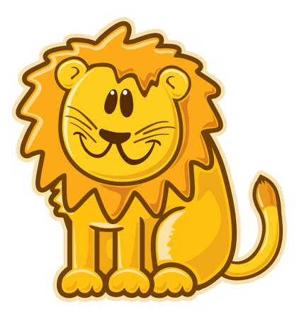 leon: Lion.  without gradients. Stock Photo