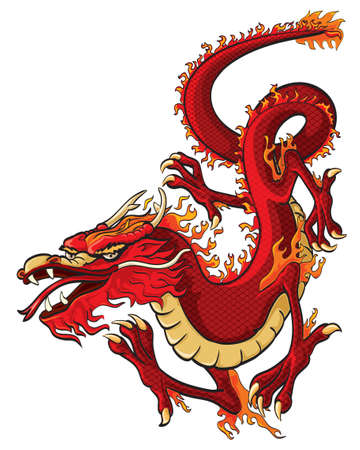 dragon fire: Red dragon