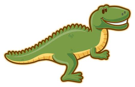 dinosaurus: T-rex. without gradients.
