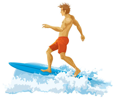 Surfer without gradients Stock Vector - 8146385