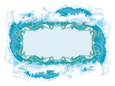 Splash - Water frame  Stock Vector - 8146387