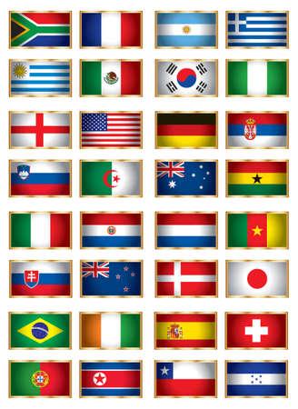 serbien: Flags festgelegt eine Illustration