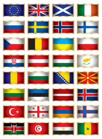 Flags set two Vector