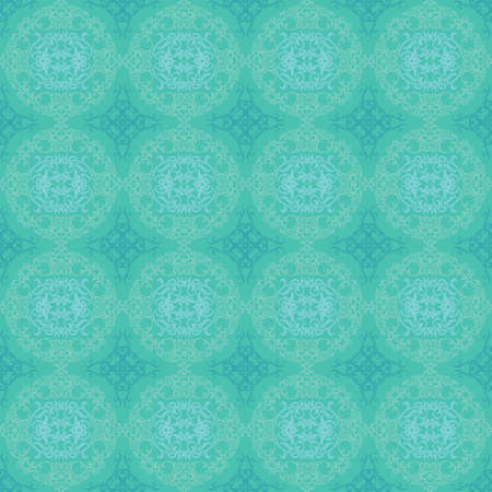 Turquoise seamless pattern Vector