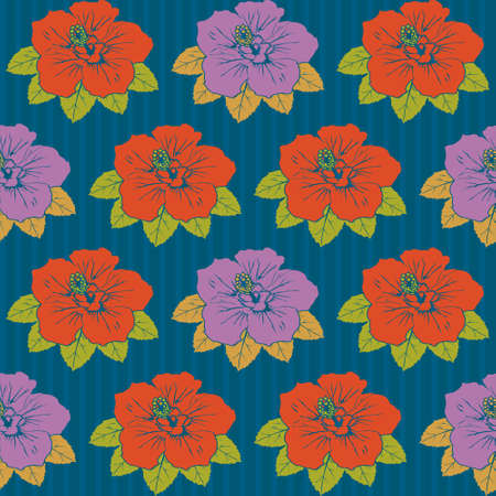 Seamless hibiscus pattern Stock Vector - 8222271