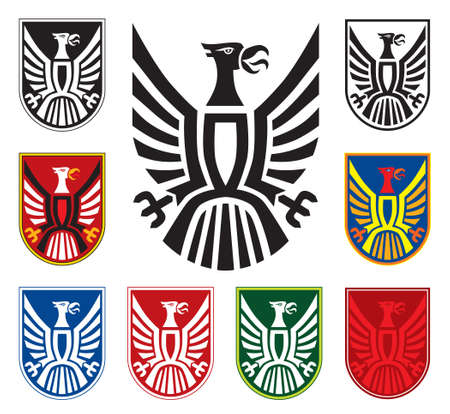 white coat: Eagle symbol