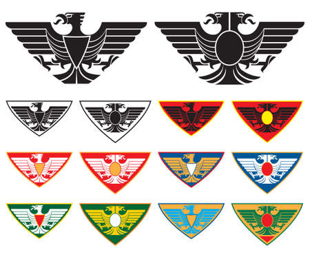 double headed: Eagle and double-headed Eagle signs