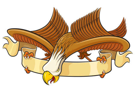 Eagle with banner Stock Vector - 8222298