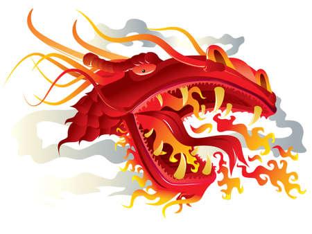 cabeza de dragon: Cabeza de drag�n  Vectores