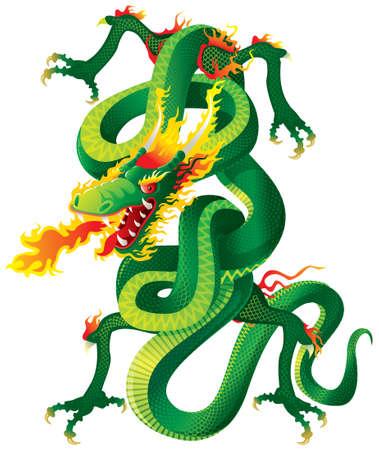 Twisted Dragon Vector Illustration