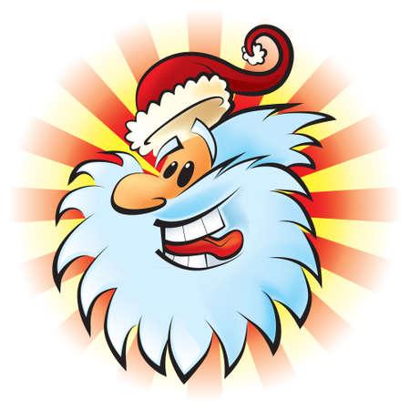 Funny Santa Claus.