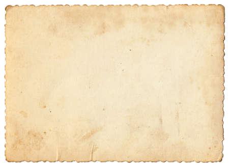 Parte posterior de la vieja foto papel