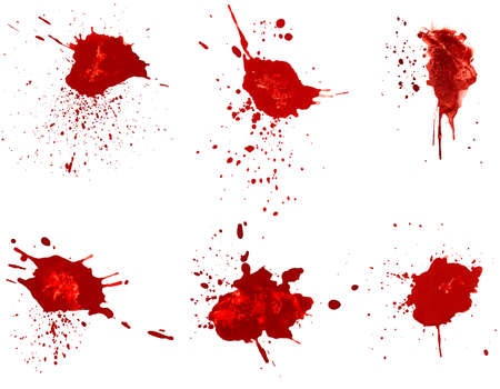 splatters: Blood stains Stock Photo