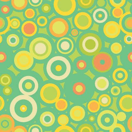 Full seamless circle pattern - green Stock Vector - 9359359