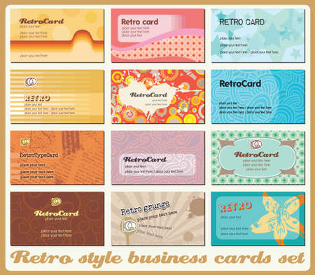 Business cards set. Each in separated layer