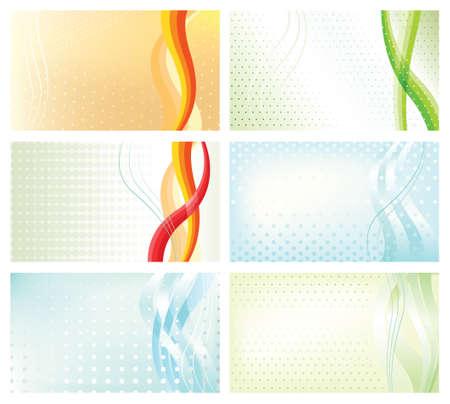 抽象的な背景のビジネス カードを設定します。ベクトルのデザイン要素です。