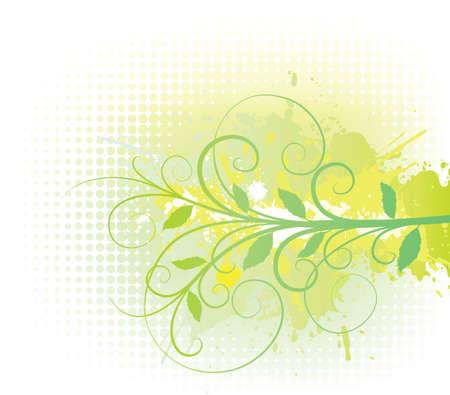 Floral halftone background.