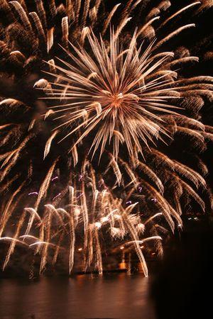 Fireworks over Grand Harbour, Valletta, Malta