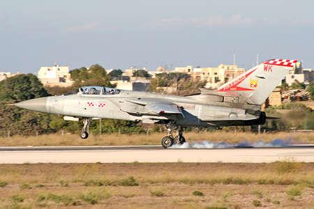 RAF Tornado landing for the Malta International Airshow 2005 Stock Photo - 401380