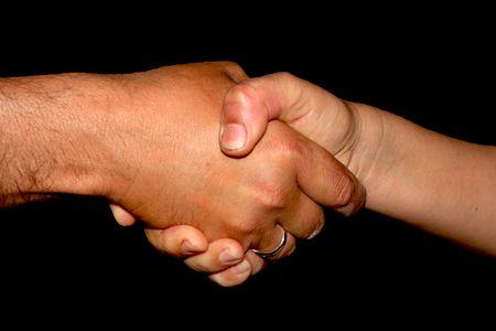 akkoord: Schud handen, overeengekomen Stockfoto