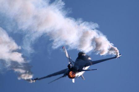 aerobatic: NAF F-16 Stock Photo