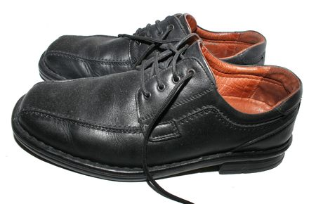 Black business shoes Stock Photo