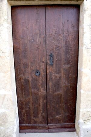keylock: Old wooden door