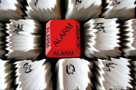 Red alarm key on keyboard
