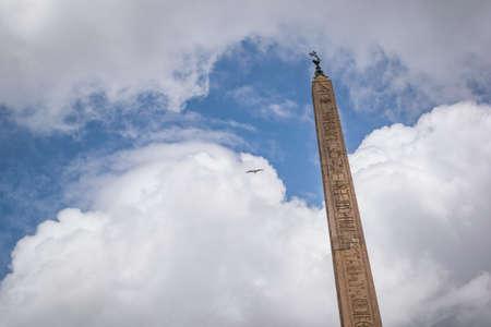Obelisk in Navona square in Rome. Italy
