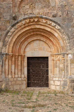 Romanesque church of Quintanarruz. Burgos, Castilla y Leon, Spain
