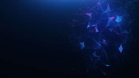抽象的な青い神経叢の背景 写真素材