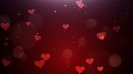 Romantic background of Red hearts watch 4k