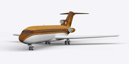 Passenger plane BOEING 727 3D render on a white background Stock Photo