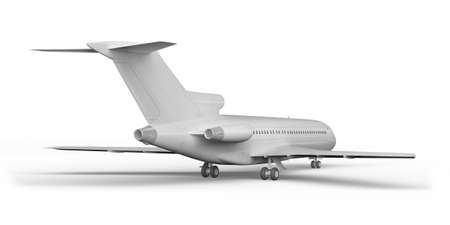 Passenger plane BOEING 727 3D render on a white background Imagens