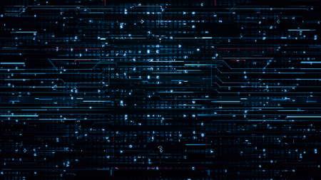 Digital blue Hi-Tech Backgrounds Stock Photo