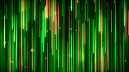 Green-yelow neon animated VJ background