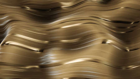 3d render Golden glamour caramel abstract background